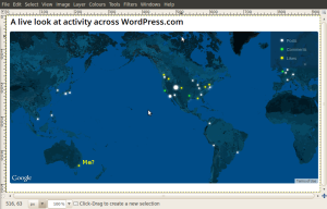 A moment of WordPress activity bursts with (maybe) me in it