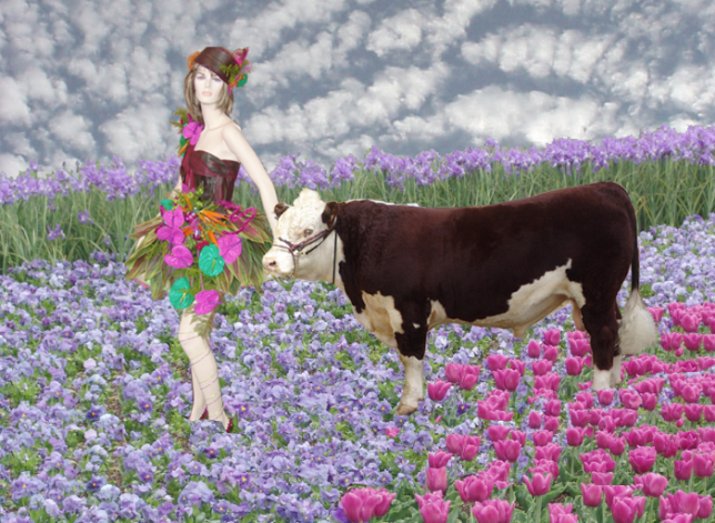 Odd Juxtaposition I - greener pastures