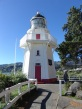 Akaroa Head lighthouse in its new location in Akaroa Town