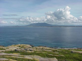 View of Australian coast from Montague Island lighthouse 2003