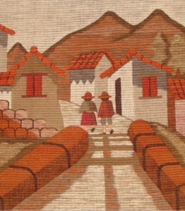 Detail of wool wallhanging.