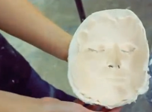 """Silicon mask of model's face """"Making a silicone mask with Skye Wild""""[3]"""