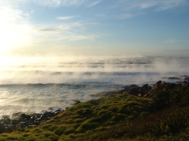 Fog on the ocean, Tuross Head